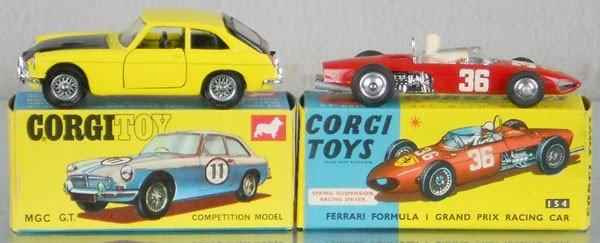 30: 2 CORGI AUTOS, 345 MGC GT