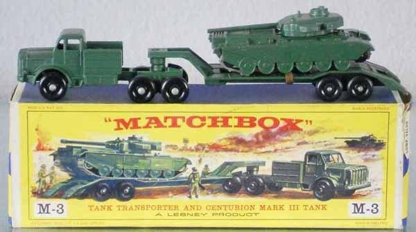 39: MATCHBOX M3A2 TANK TRANSPORTER
