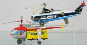 2 TOY HELICOPTERS