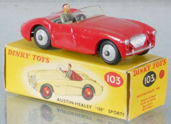 17: DINKY 103 AUSTIN-HEALEY 100 SPORTS