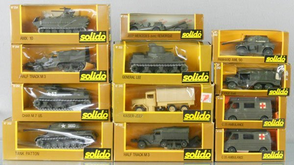 18: 12 SOLIDO MILITAIRES VEHICLES