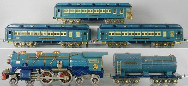 128: LIONEL BLUE COMET TRAIN SET