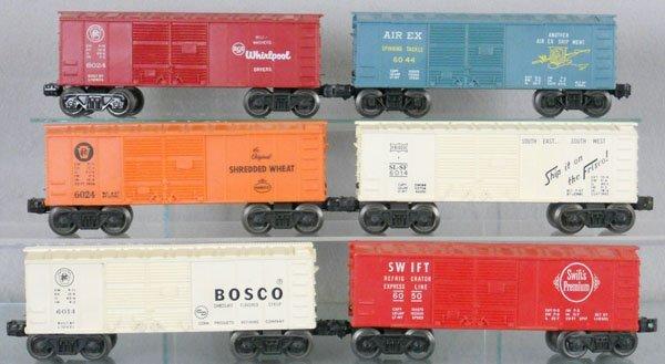 2: 6 LIONEL BOX CARS