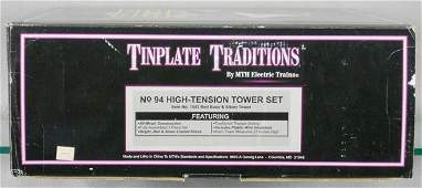 292 MTH TINPLATE TRADITIONS 94 HIGH TENSION TOWER SET