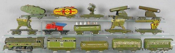 MARX ARMY TRAIN SET