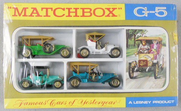 MATCHBOX G5 FAMOUS CARS OF YESTERYEAR GIFT SET