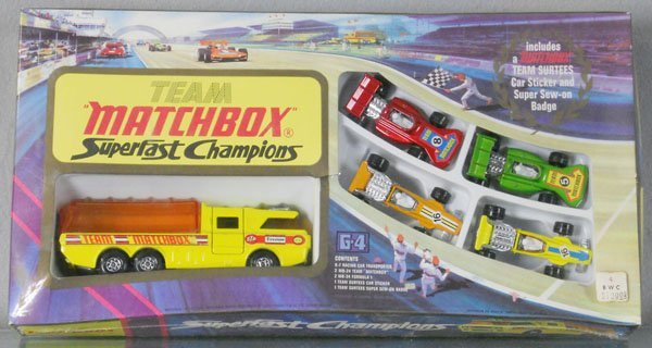 TEAM MATCHBOX SUPERFAST CHAMPIONS G4D GIFT SET