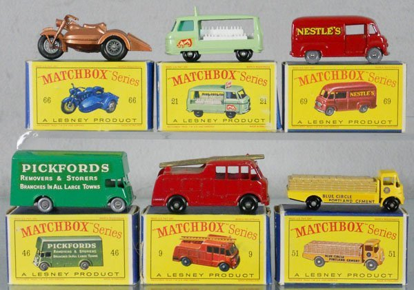 6 MATCHBOX VEHICLES