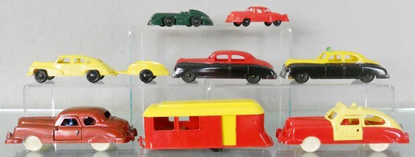 9 PLASTIC VEHICLES