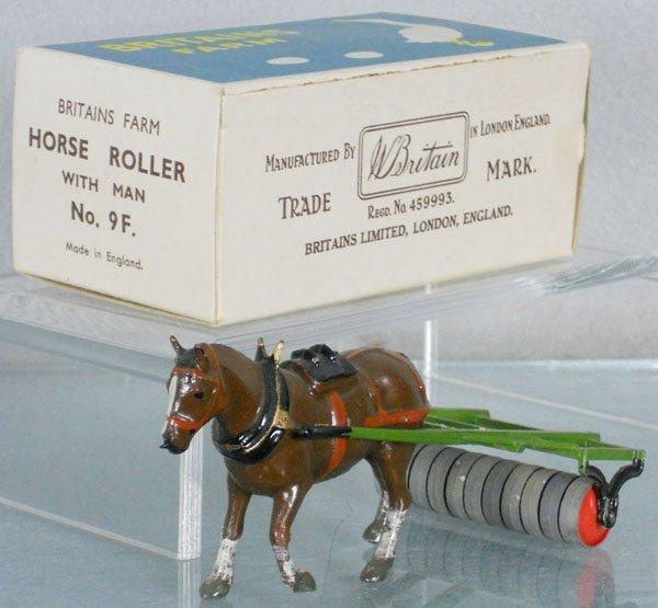 BRITAINS 9F HORSE ROLLER W/MAN