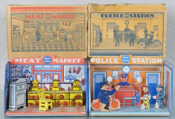 2 MARX HOME TOWN TOYS