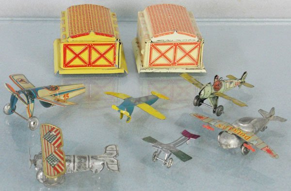 TOY AIRPLANES &  HANGARS