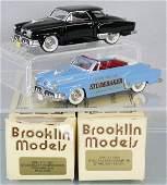 2 BROOKLIN MODELS 1952 STUDEBAKERS