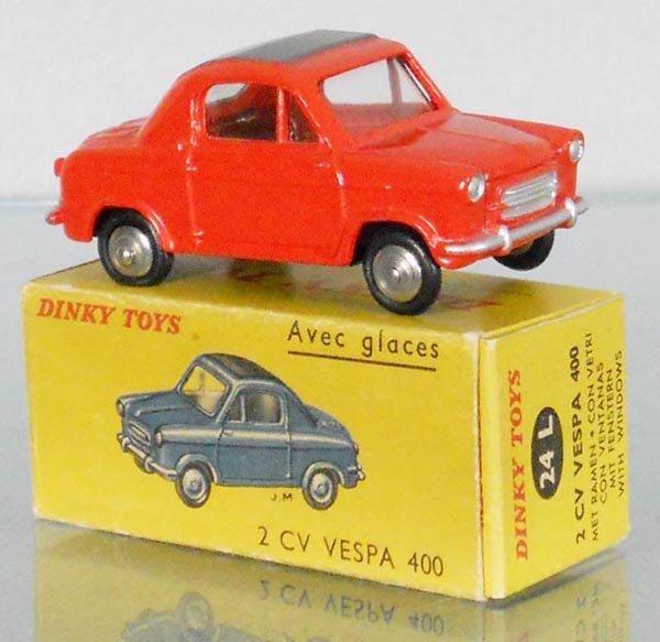 FRENCH DINKY 24L 2 CV VESPA 400