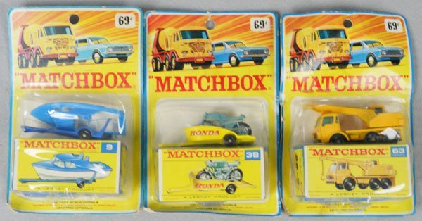 3 MATCHBOX CARDED VEHICLES