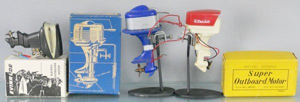 3 TOY OUTBOARD MOTORS