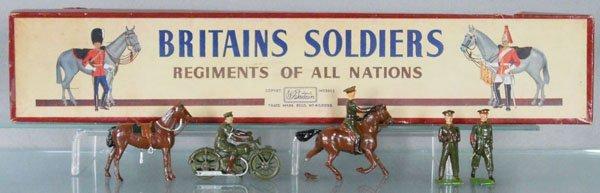 BRITAINS SET 1907 STAFF OFFICER'S