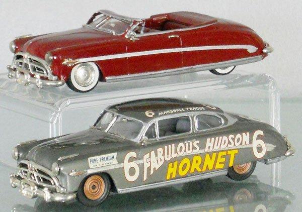 2 PRECISION MINIATURES #15 1952 HUDSON HORNETS
