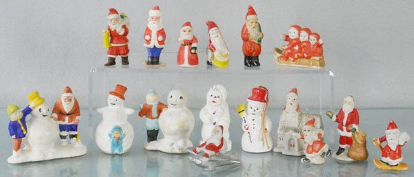16 BISQUE & COMPOSITION HOLIDAY FIGURES