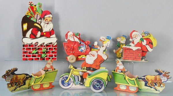 6 CARDBOARD CHRISTMAS CANDY DECORATIONS