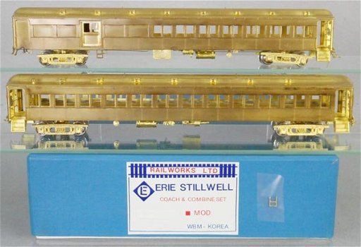 RAILWORKS ERIE STILLWELL COACH & COMBINE SET