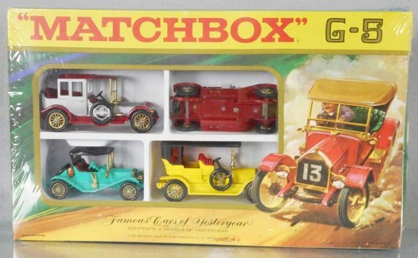 MATCHBOX G5 FAMOUS CARS OF YESTERYEAR SET