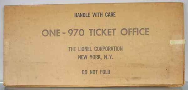 LIONEL 970 TICKET OFFICE