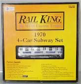 MTH 302122 NYC TRANSIT 1970 4CAR SUBWAY SET
