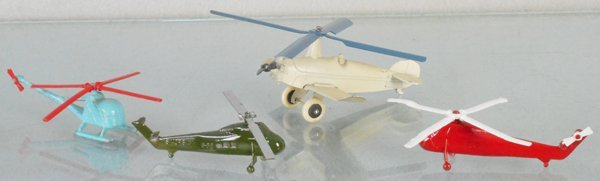 4 TOOTSIETOY HELICOPTERS