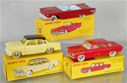 3 FRENCH DINKY AUTOS