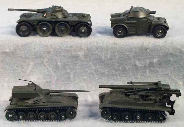 1006: 4 DINKY MILITARY VEHICLES