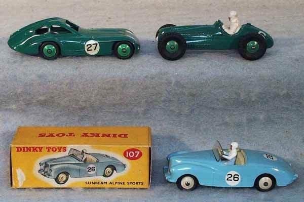 1008: 3 DINKY RACE CARS