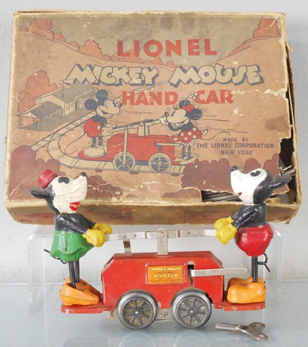 LIONEL 1100 MICKEY MOUSE HANDCAR