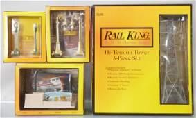 4 MTH RAIL KING ACCESSORIES