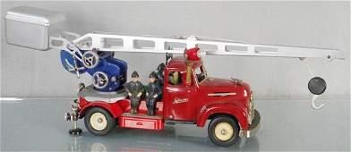 SCHUCO 6080-6075 FIRE ENGINE & CRANE