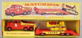 Matchbox K8a4 King Size Prime Mover & Caterpillar