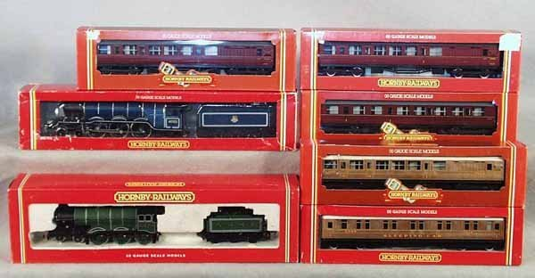 021A: 2 HORNBY TRAIN SETS