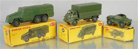 3 DINKY MILITARY VEHICLES