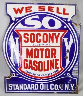 Socony Gas Advertising Sign