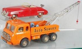 2 German Tin Vehicles, Distler Ford