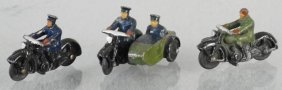 3 Dinky Motorcycles