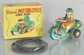 Modern Toys Round Motor-cycle Cable Rider