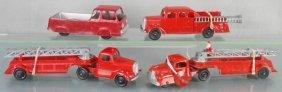 4 Tootsietoy Fire Vehicles