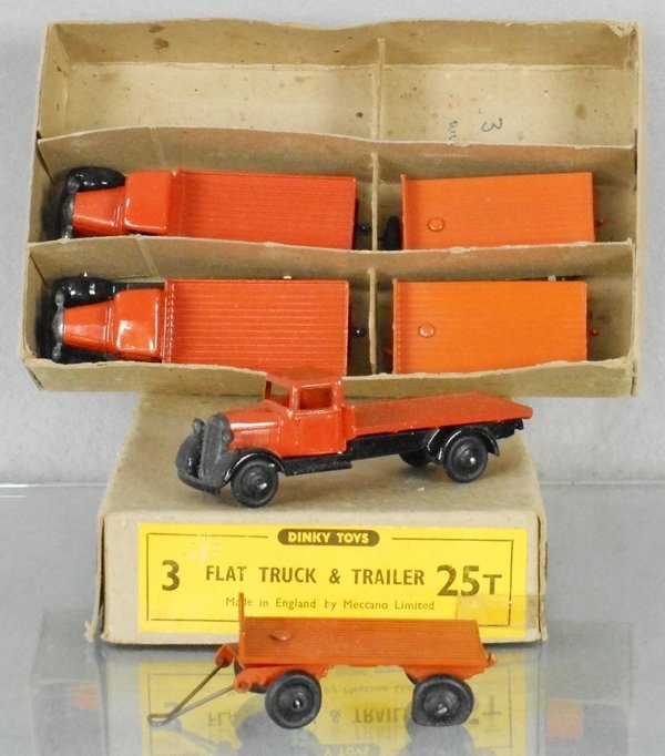 DINKY 25T FLAT TRUCK & TRAILER TRADE PACK