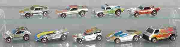9 HOT WHEELS RED LINES