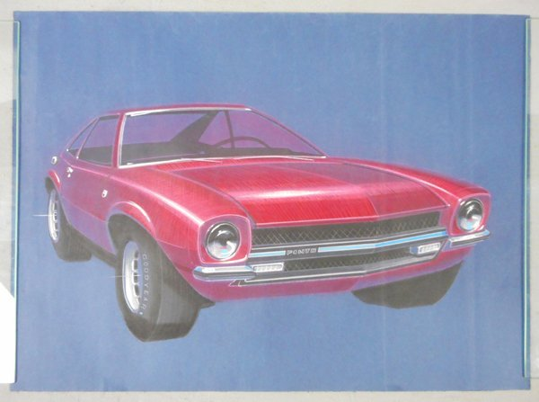 FORD PINTO CONCEPT CAR DRAWING
