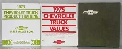 3 CHEVROLET DEALER-ONLY CATALOGS