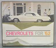 1962 CHEVROLET DEALERONLY CATALOGS