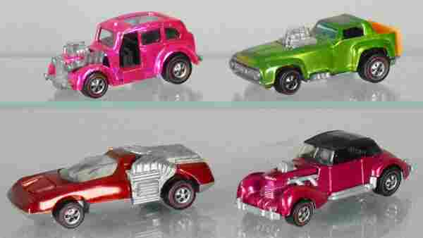 4 HOT WHEELS RED LINES