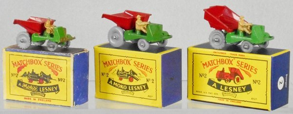 3 MATCHBOX DUMPERS